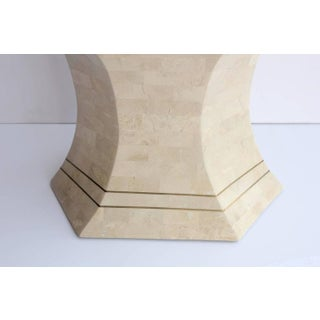 Maitland-Smith Modern Tessellated Stone & Brass Accent Table Preview
