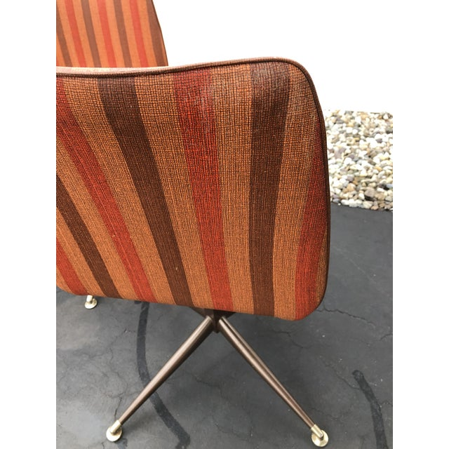 Vintage Mid Century Howell Acme Striped Vinyl Chairs- Set of 4 For Sale - Image 10 of 13