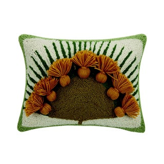 Nilo Hooked Wool Pillow For Sale