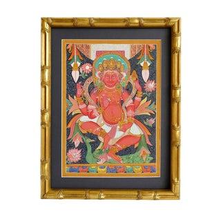 Original Karmacharya Painting of Kumar God of War For Sale