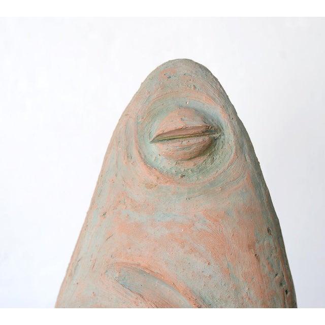 Mid 20th Century Vintage Mid-Century Modernist Primitive Man Bust Sculpture For Sale - Image 5 of 9