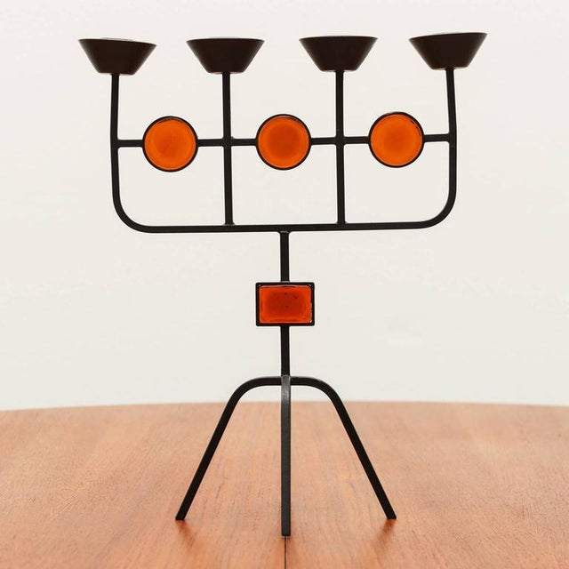 Pair of Candelabra by Erik Hoglund for Ystad Metall, Sweden, 1960s - Image 2 of 8