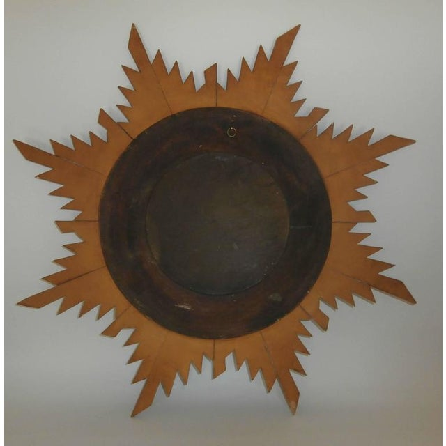 French Convex Sunburst Gilded Mirror - Image 2 of 2