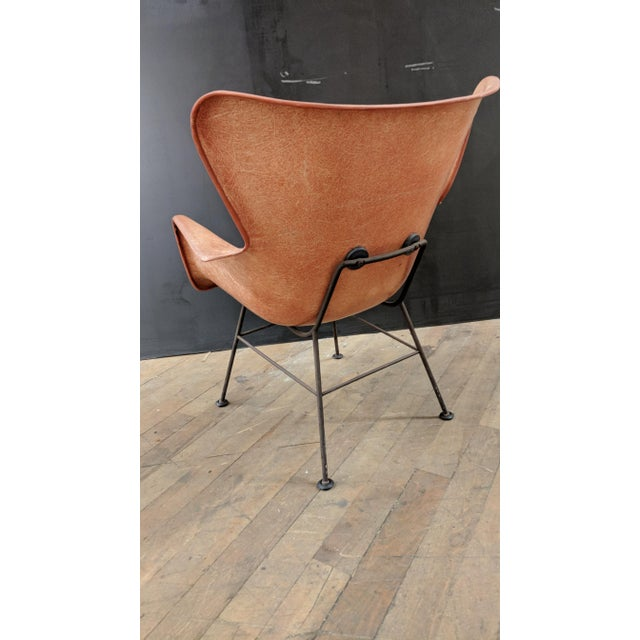 Lawrence Peabody for Selig Mid-Century Wingback Fiberglass Chair - Image 4 of 12
