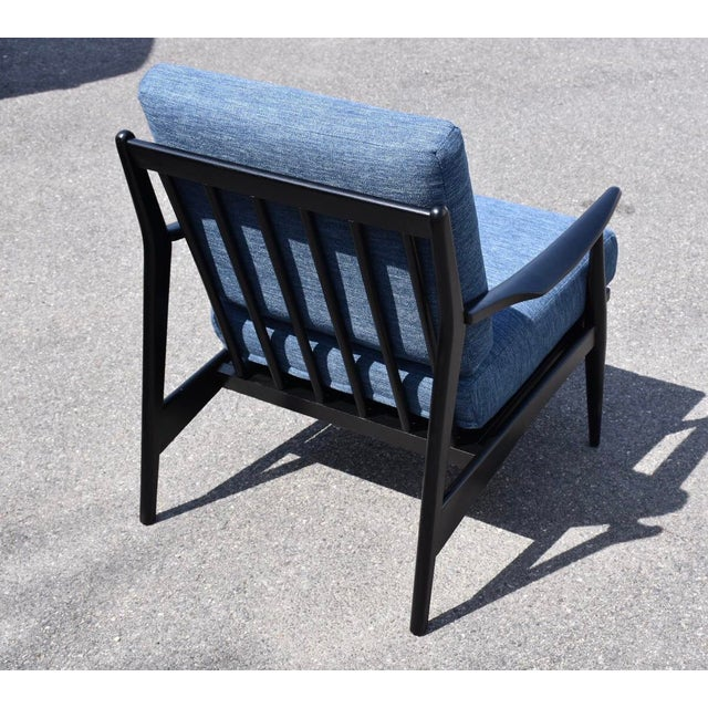 Black Lacquered MCM Lounge Chair For Sale - Image 4 of 6