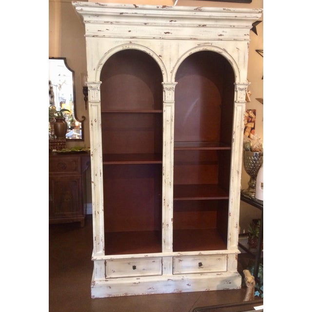 English Traditional Style Painted Book Shelf For Sale - Image 13 of 13