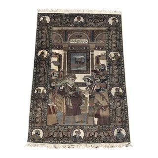 "Turkish Pictorial Rug - 4'2"" x 6'2"""