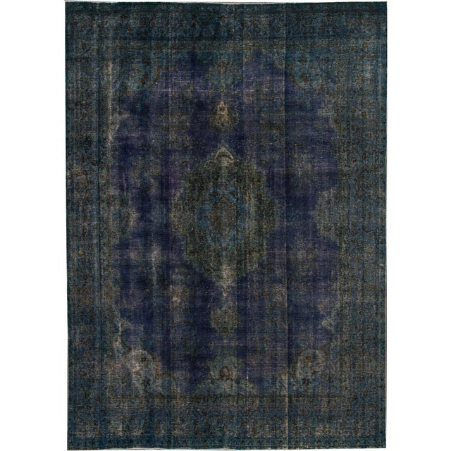 """Apadana - Vintage Overdyed Rug, 9'4"""" X 13'0"""" For Sale In New York - Image 6 of 6"""