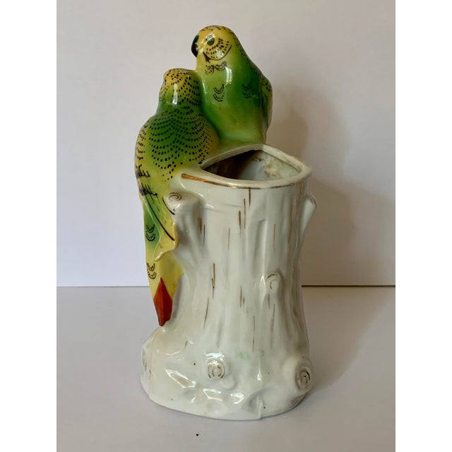 Mid 20th Century Japanese Porcelain Painted Bird Bud Vase For Sale - Image 5 of 8