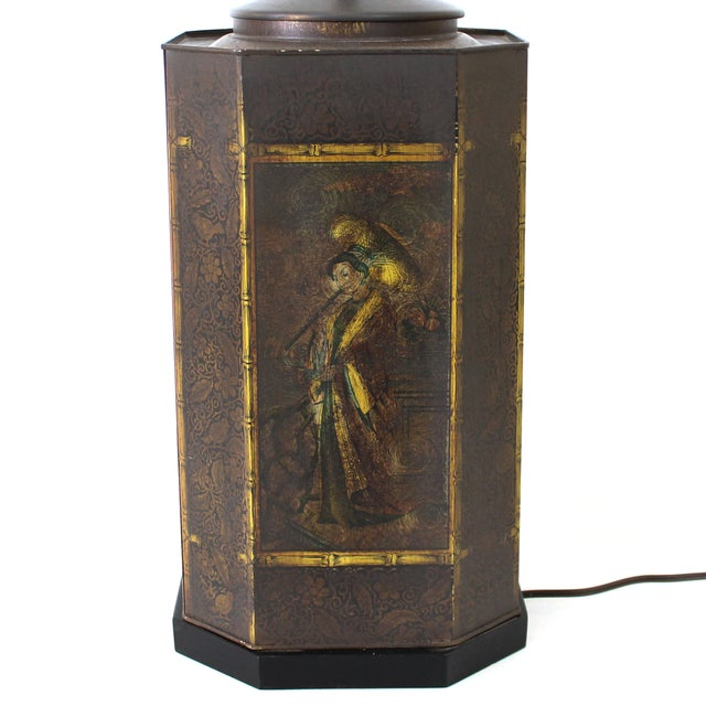 Chapman Asian Toleware Tea Canister Lamp - Image 6 of 7