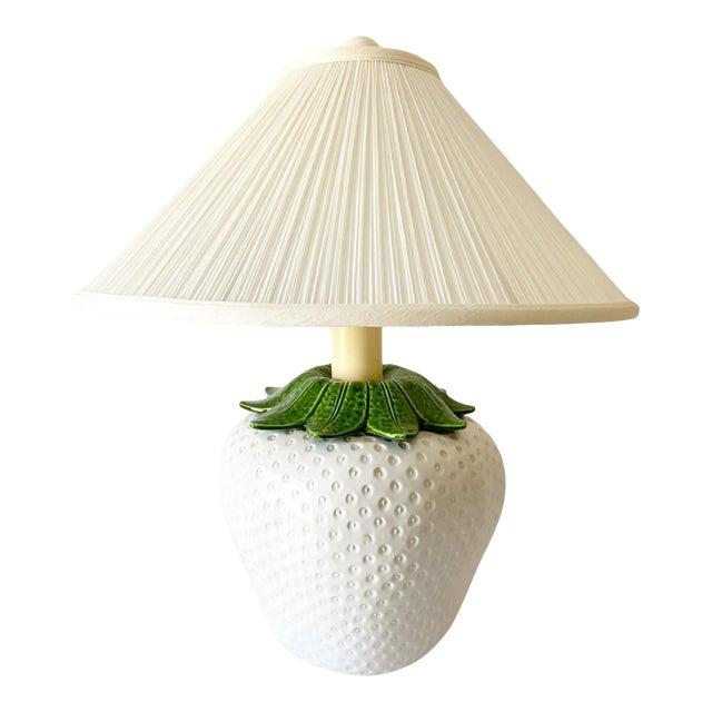 Italian Strawberry Lamp & Shade For Sale