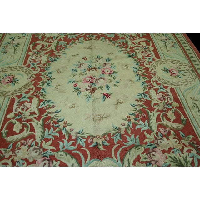 "Vintage Decorative Hooked Rug - 8'10"" x 12'2"" - Image 5 of 6"