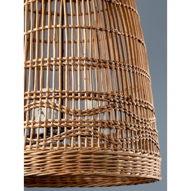 Vintage French Basket Chandelier Light Fixture Circa 1920 For Sale - Image 9 of 13