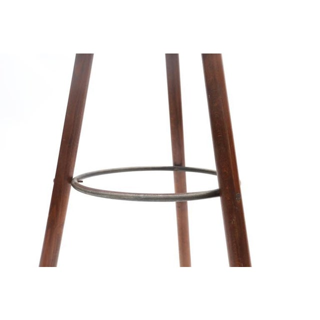 Set of Four Carl Malmsten Bar Stools For Sale - Image 6 of 7