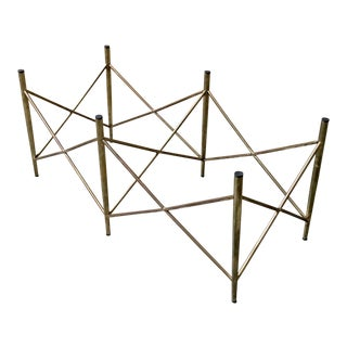 Geometric Brass Coffee Table Base
