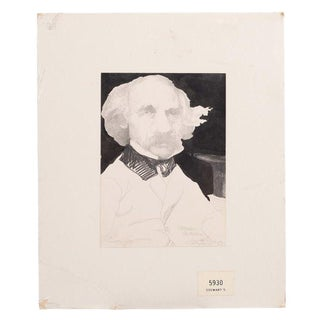 Nathaniel Hawthorne Portrait Drawing by Charles Bragg For Sale