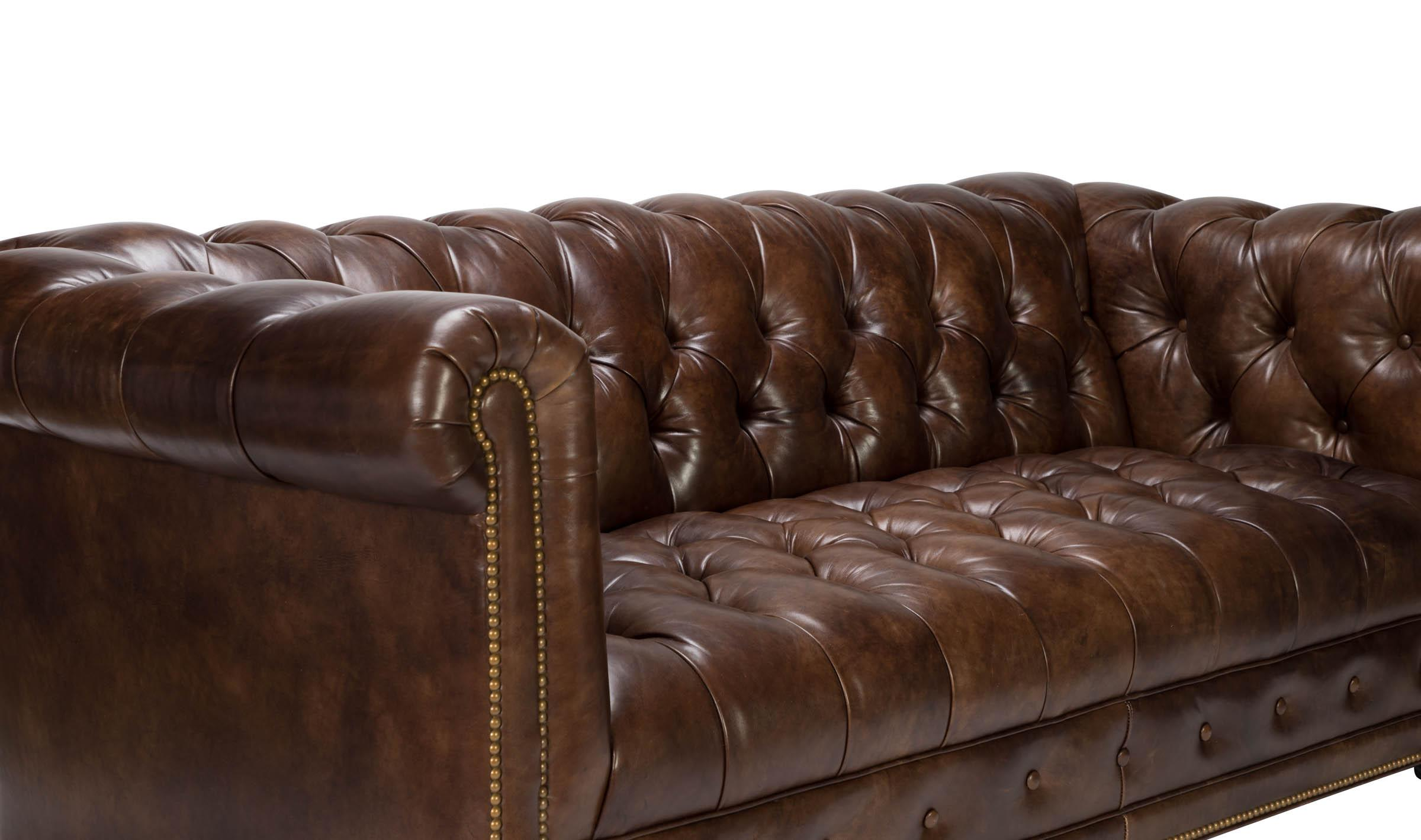 Hancock Moore Kent Chesterfield Leather Sofa Chairish