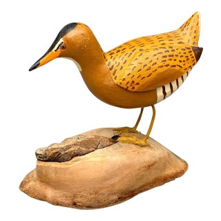 Hand Carved King Rail Model Bird For Sale