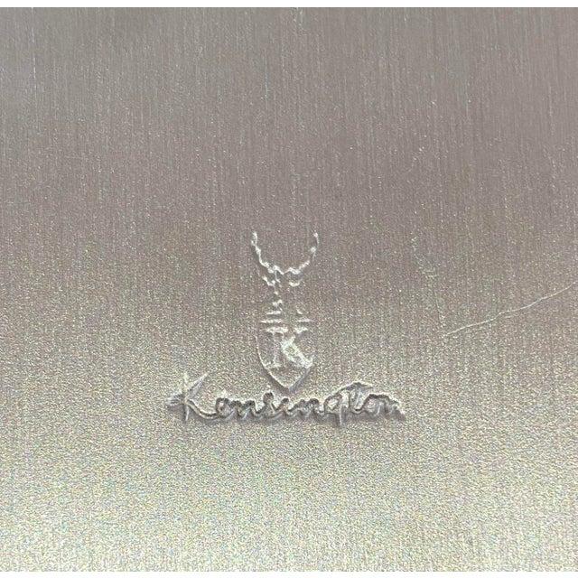 Vintage American Art Deco 1930s Kensington Box Aluminum For Sale - Image 9 of 11