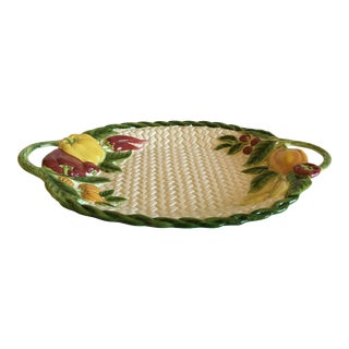 Mid 20th Century Fitz and Floyd Vegetable Motif Platter For Sale