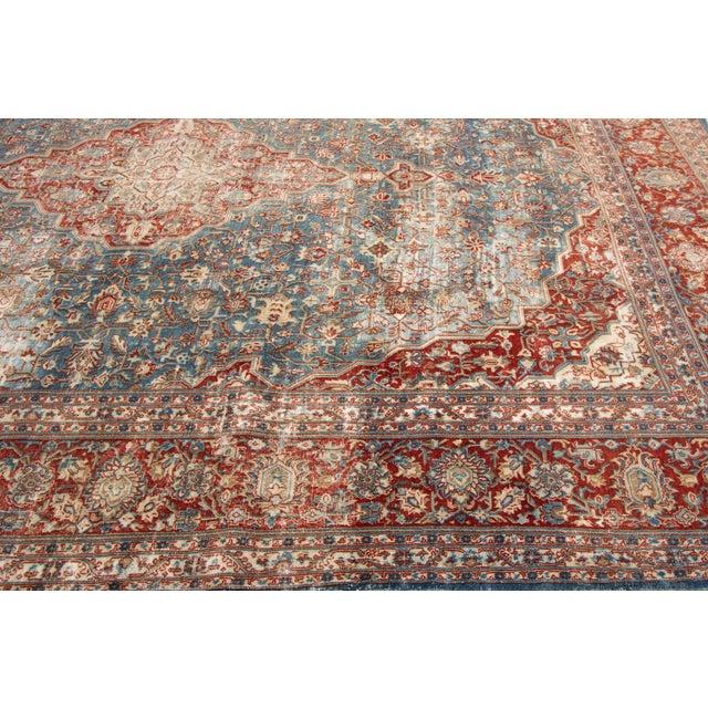 "Textile Apadana-Antique Persian Distressed Rug, 8'5"" X 12'0"" For Sale - Image 7 of 9"