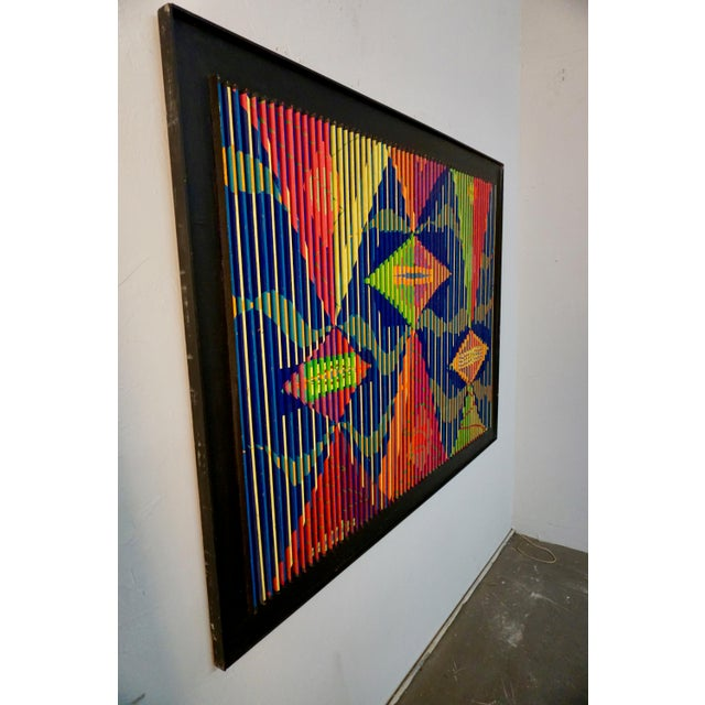 Louvered Abstract Painting by Louis Nadalini For Sale - Image 4 of 9