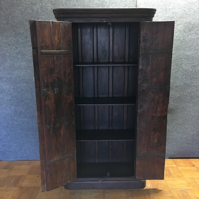 Handcrafted Tall Wooden Armoire by Buena Vista - Image 9 of 11