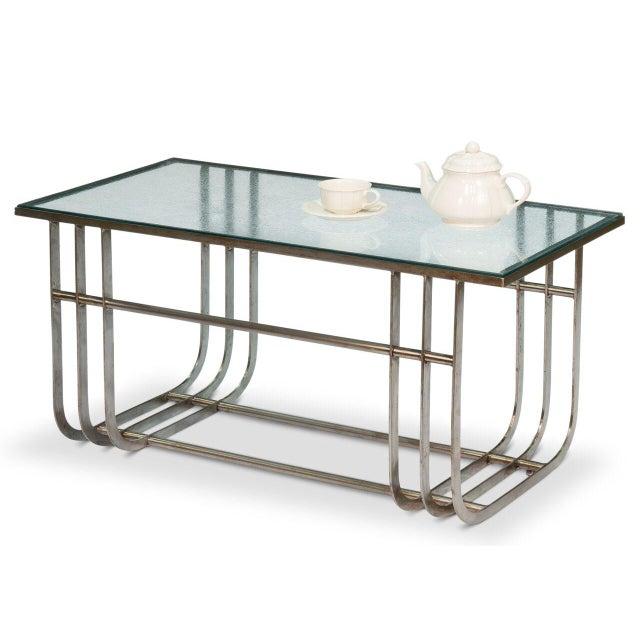 Sarreid LTD Donald Deskey Style Table - Image 3 of 9