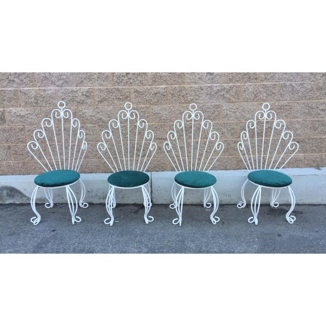 French Hollywood Regency Rod Iron Chairs - S/4 - Image 2 of 3