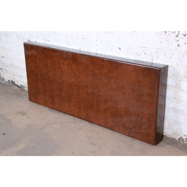 A gorgeous mid-century modern queen size headboard designed by Milo Baughman for Thayer Coggin, circa 1970s. The headboard...