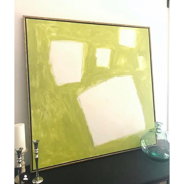 """Paint Sarah Trundle """"Let Me Count the Ways: Shapes in Chartreuse"""" Original Abstract Painting For Sale - Image 7 of 7"""