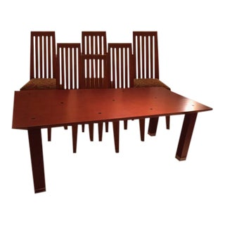 Modern Conde House Furniture Dining Table and Chairs- 7 Pieces For Sale