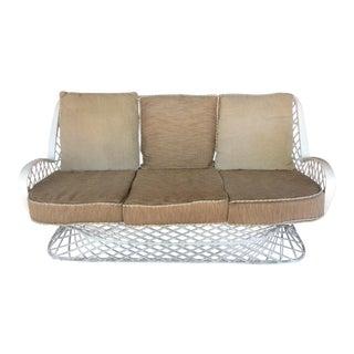 1950s Vintage Russell Woodard Spun Fiberglass Sofa For Sale