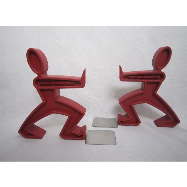 Keith Haring Style Bookends - A Pair - Image 2 of 4