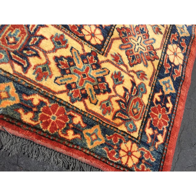 "Kazak Knotted Wool Rug -- 7'6"" x 11'3"" For Sale - Image 10 of 10"