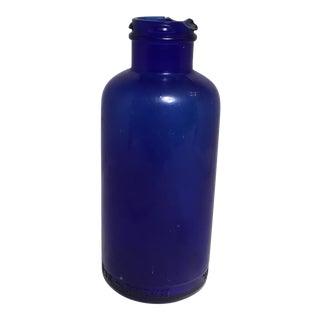 Deep Cobalt Blue Apothecary Bottle For Sale