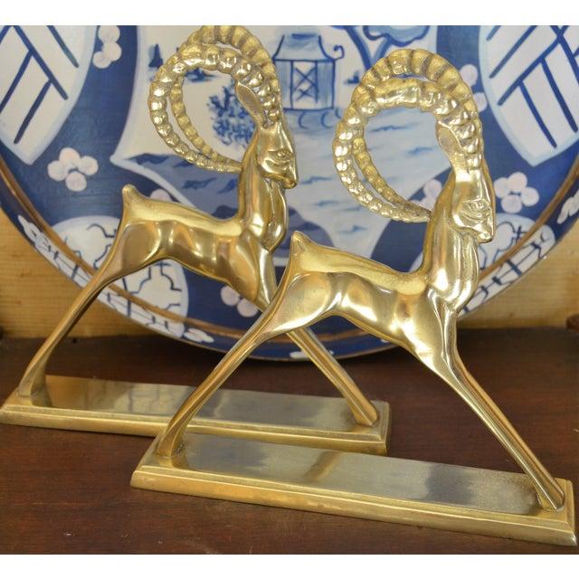 Ibex Brass Figurines - Pair - Image 8 of 11