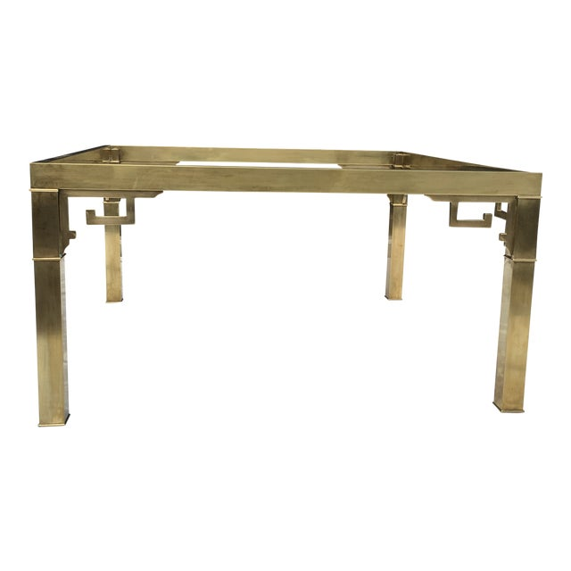 Mastercraft Italian Brass Coffee Table For Sale