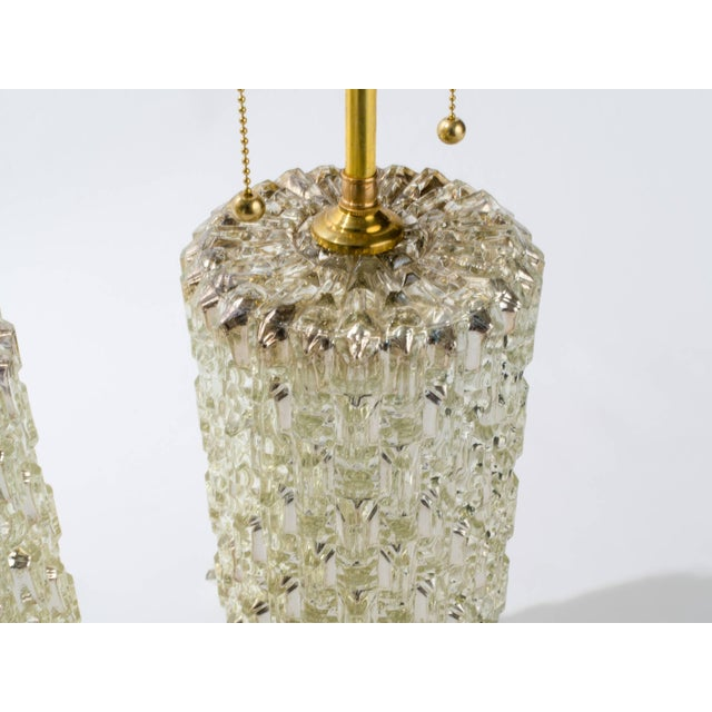 1970s Textured Cylindrical Mercury Glass Lamps For Sale - Image 5 of 6