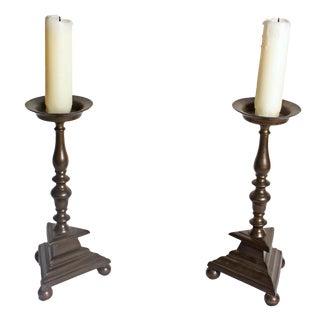 Bronze Candlesticks - A Pair