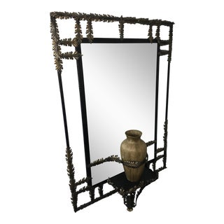 John Richard Black Wrought Iron Mirror For Sale