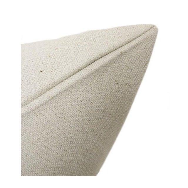 "22"" Fern Green Velvet Panel and Linen Pillows - a Pair - Image 4 of 4"