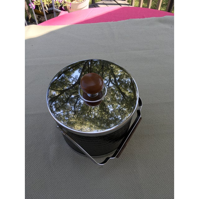 20th Century Art Deco Style Chrome Ice Bucket For Sale - Image 4 of 8