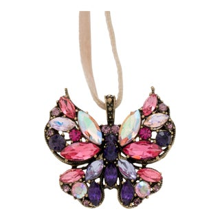 Mini Butterfly Ornament, Amethyst For Sale