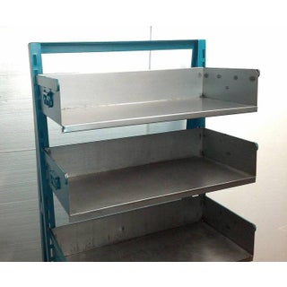 Industrial Steel Factory Storage A-Frame Rack as Shelving Unit, Choice of Color; Two Units Available Preview