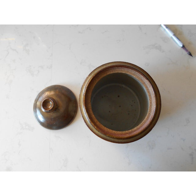 Covered Pottery Canister - Image 6 of 6