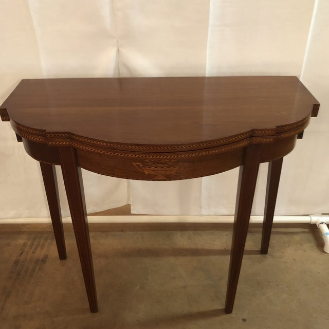 Federal 1900s Federal Inlaid Mahogany Game Table For Sale - Image 3 of 13