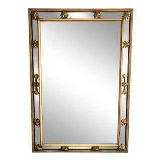 French Giltwood Cushion Mirror For Sale