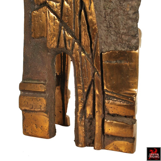 Bronze Brutalist Abstract Sculpture For Sale - Image 11 of 13