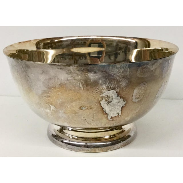 Sheffield Silver Co. 1970s Art Nouveau Sheffield Silver-Plated Revere Bowl For Sale - Image 4 of 13